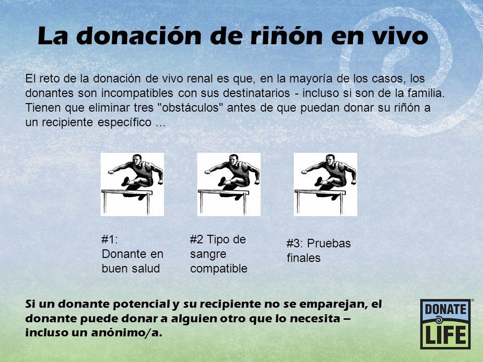 La donación de riñón en vivo