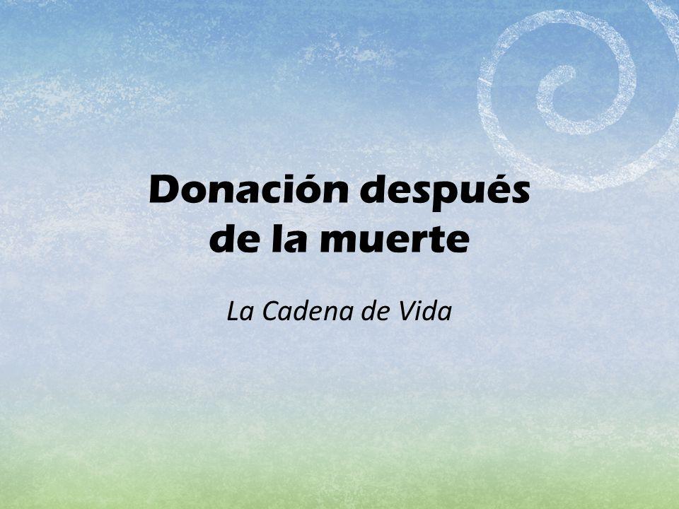 Donación después de la muerte