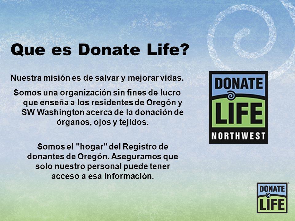 Nuestra misión es de salvar y mejorar vidas.