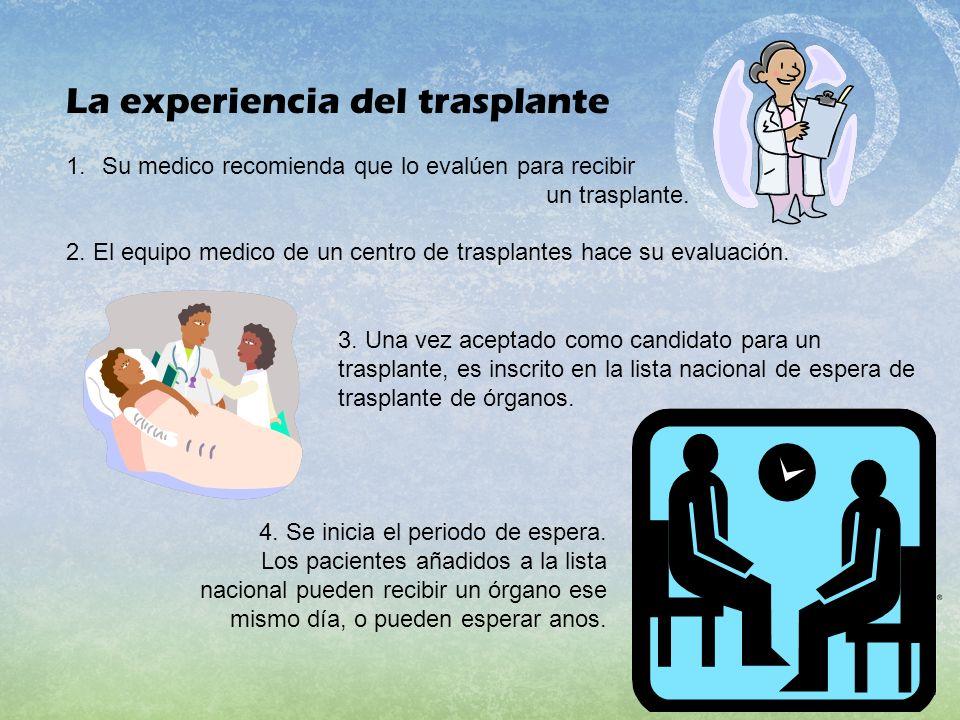 La experiencia del trasplante