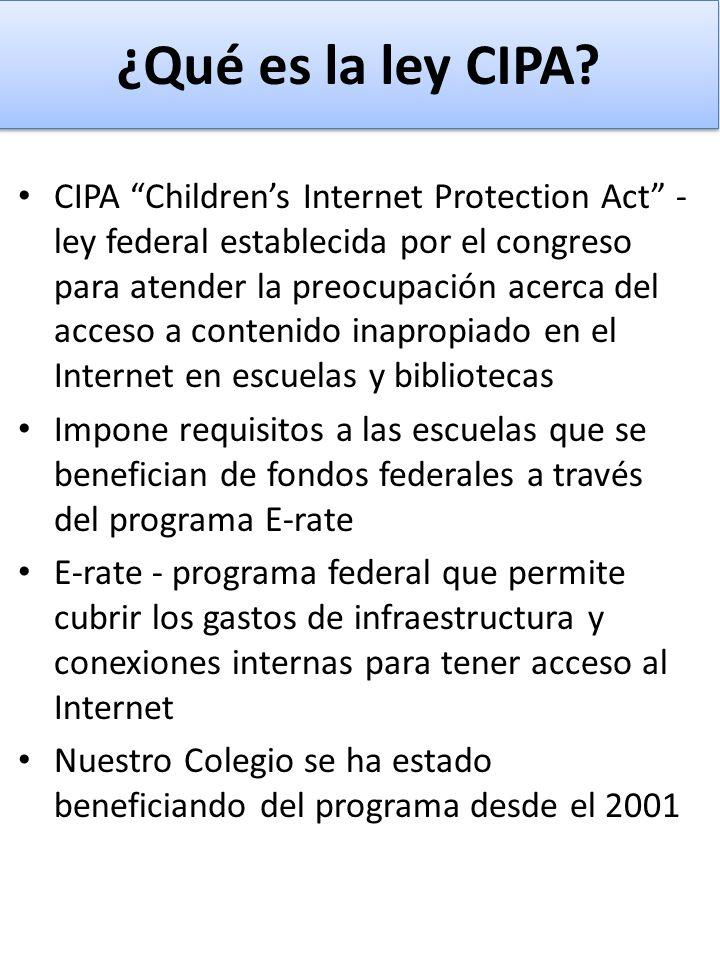 ¿Qué es la ley CIPA