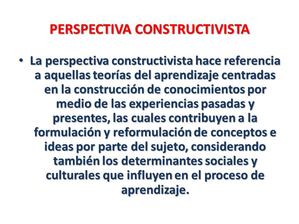 PERSPECTIVA CONSTRUCTIVISTA