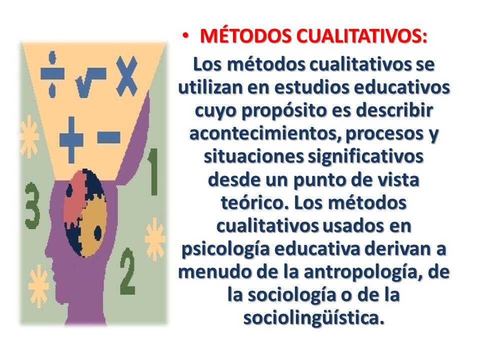 MÉTODOS CUALITATIVOS:
