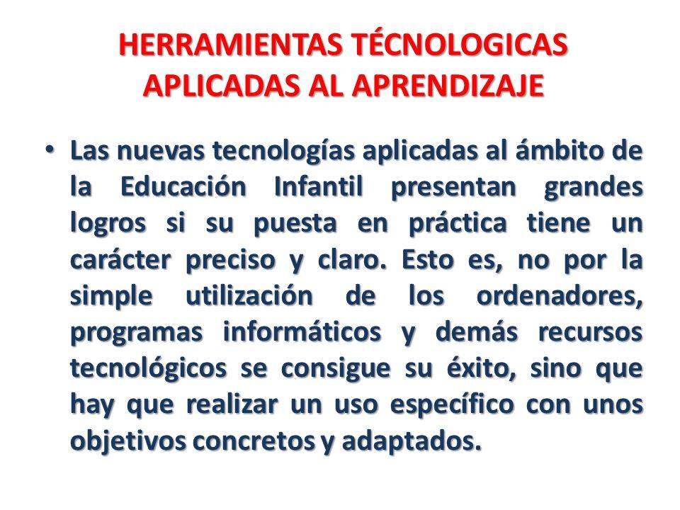 HERRAMIENTAS TÉCNOLOGICAS APLICADAS AL APRENDIZAJE