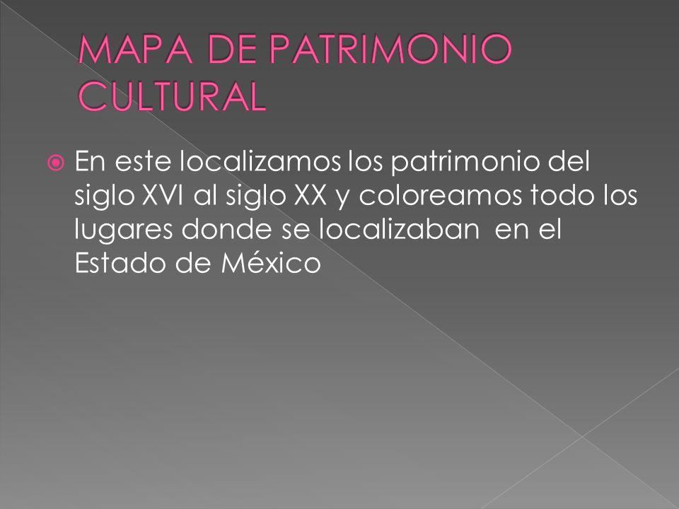 MAPA DE PATRIMONIO CULTURAL