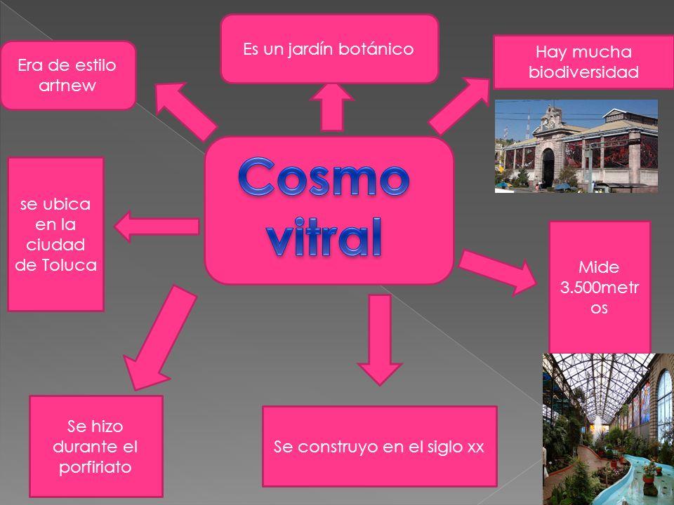Cosmo vitral Es un jardín botánico Hay mucha biodiversidad
