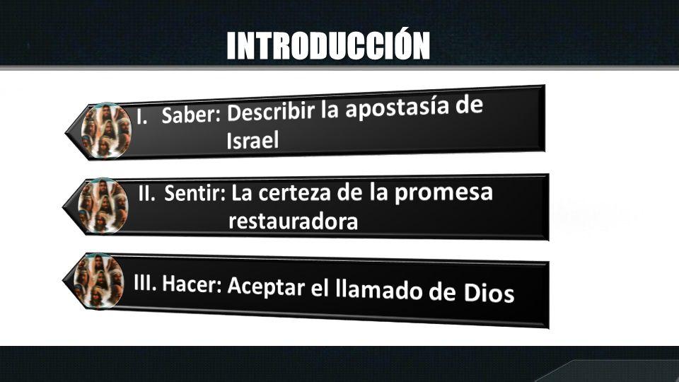 INTRODUCCIÓN I. Saber: Describir la apostasía de Israel