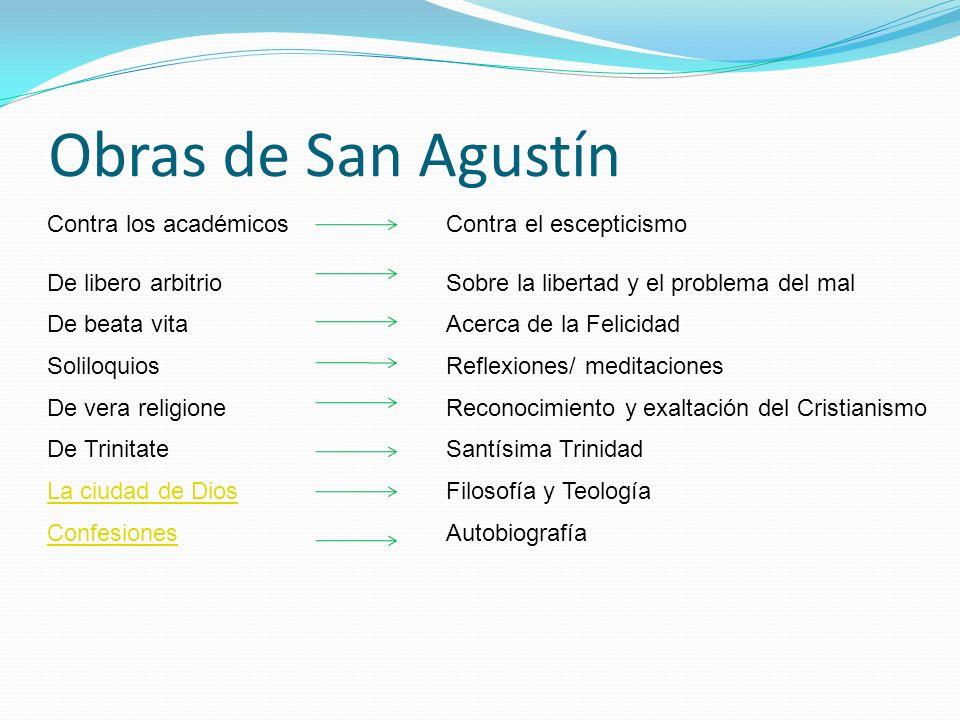 Obras de San Agustín Contra los académicos Contra el escepticismo