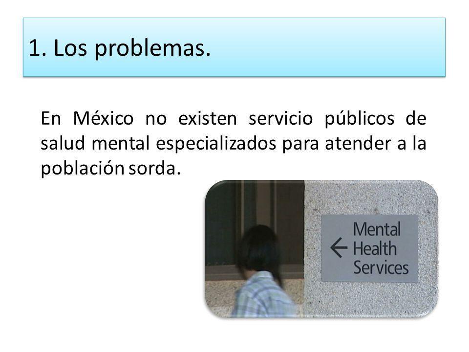 1. Los problemas.