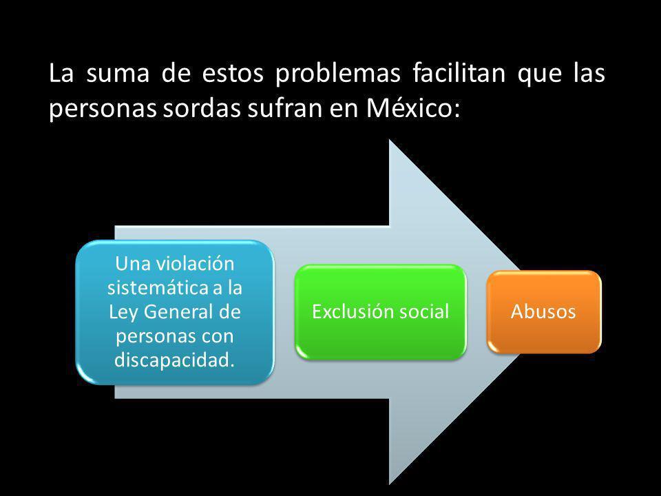 La suma de estos problemas facilitan que las personas sordas sufran en México: