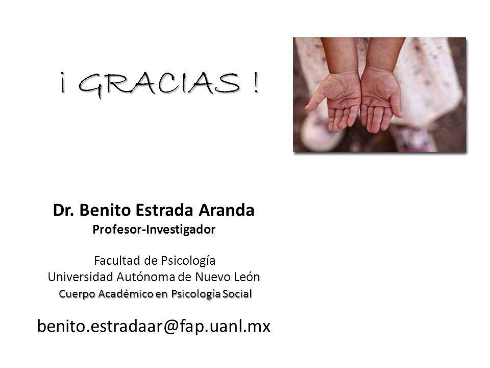 Dr. Benito Estrada Aranda Profesor-Investigador