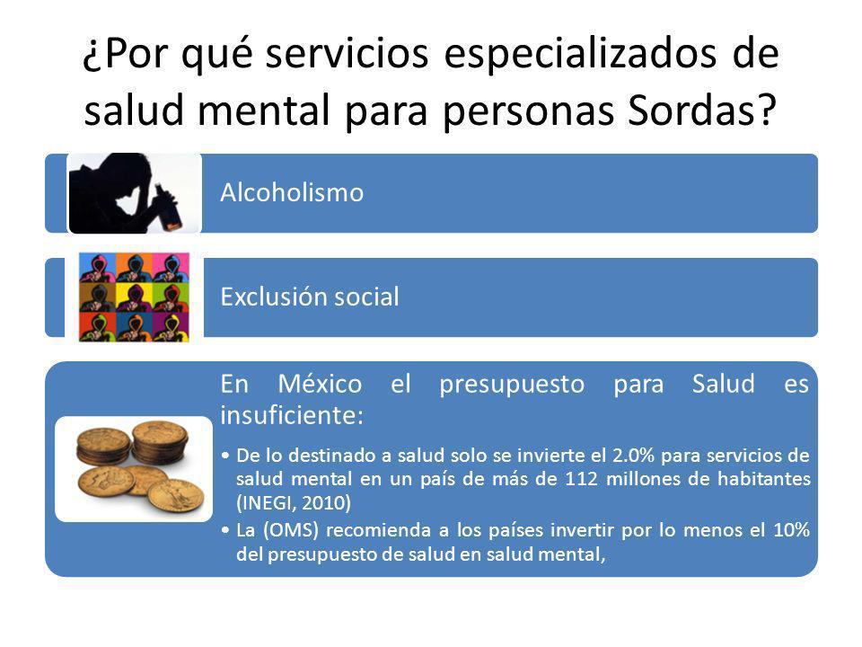 ¿Por qué servicios especializados de salud mental para personas Sordas