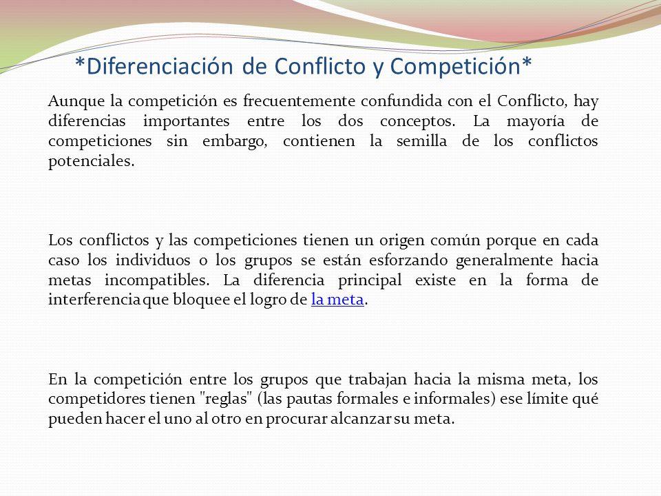 *Diferenciación de Conflicto y Competición*