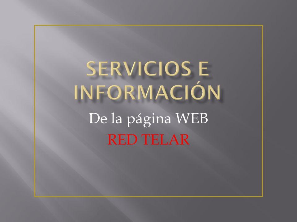 Servicios e información
