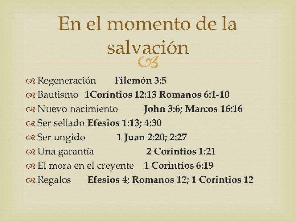 En el momento de la salvación