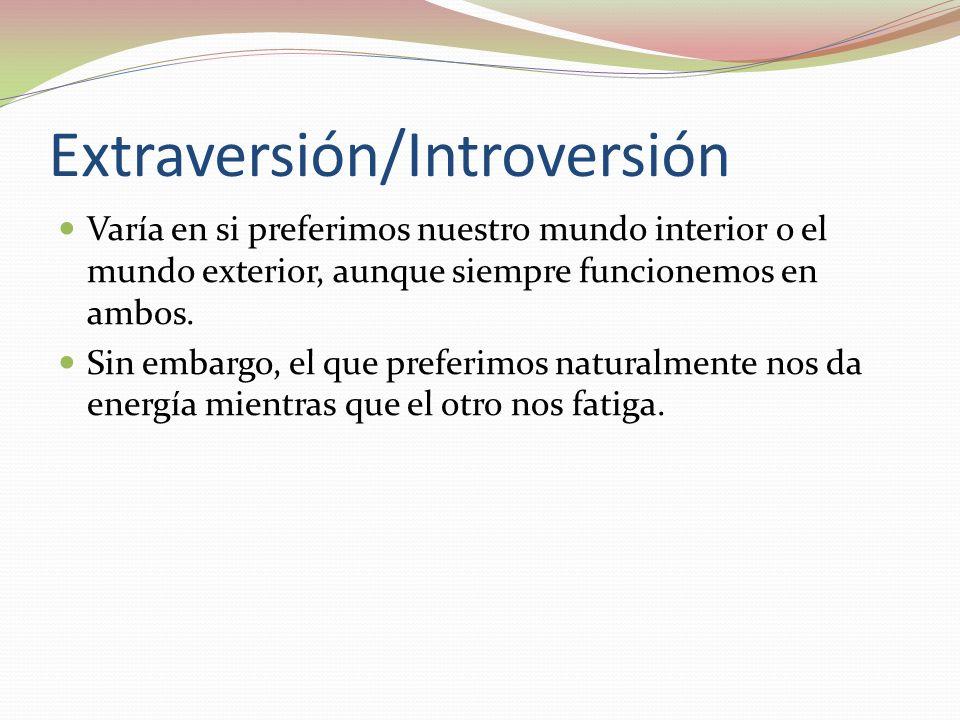 Extraversión/Introversión