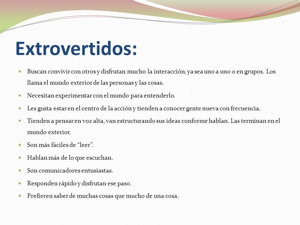 Extrovertidos: