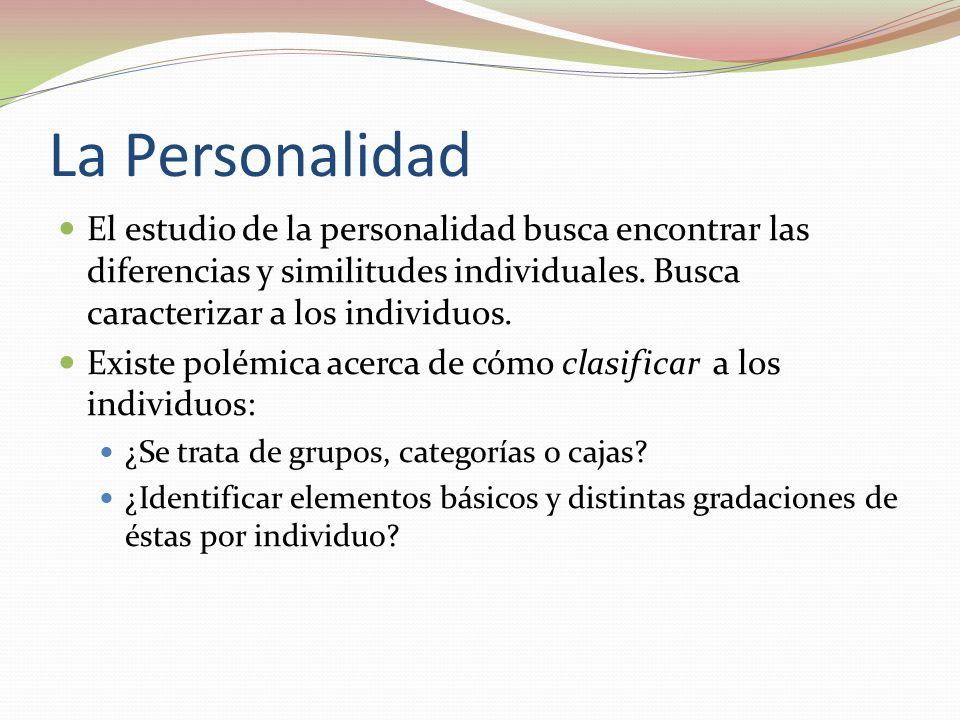 La Personalidad El estudio de la personalidad busca encontrar las diferencias y similitudes individuales. Busca caracterizar a los individuos.