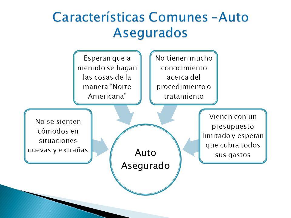 Características Comunes –Auto Asegurados
