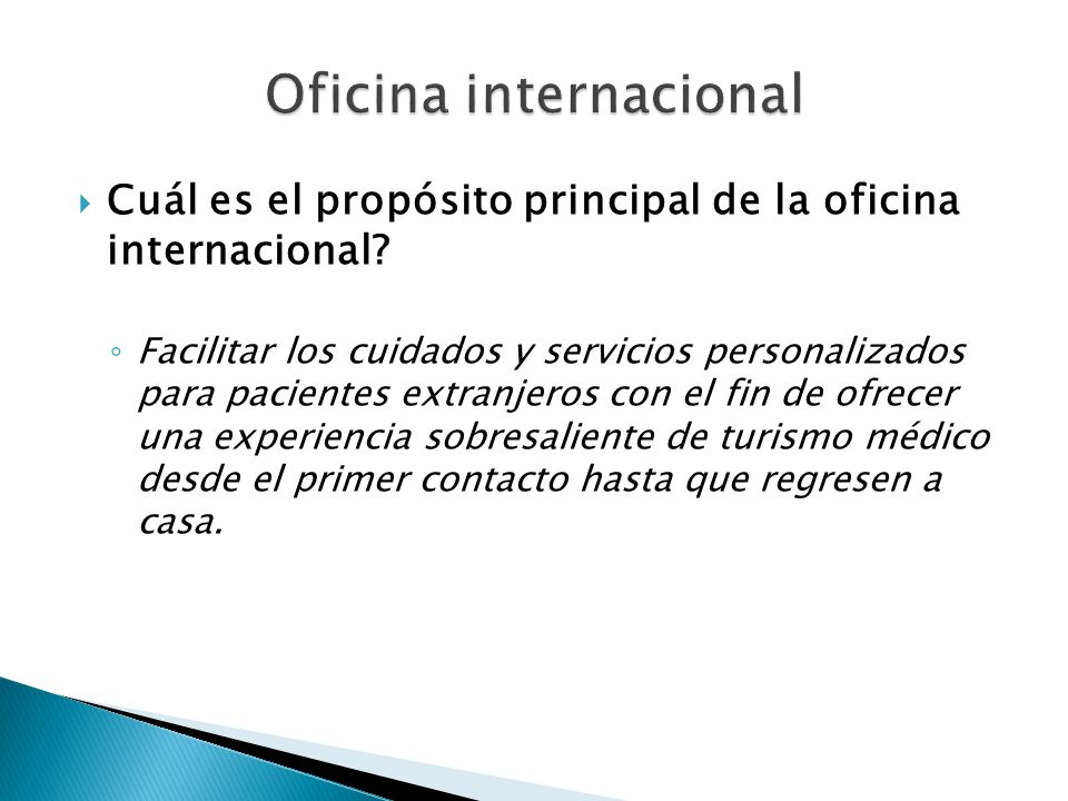 Oficina internacional