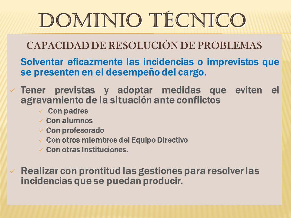 CAPACIDAD DE RESOLUCIÓN DE PROBLEMAS