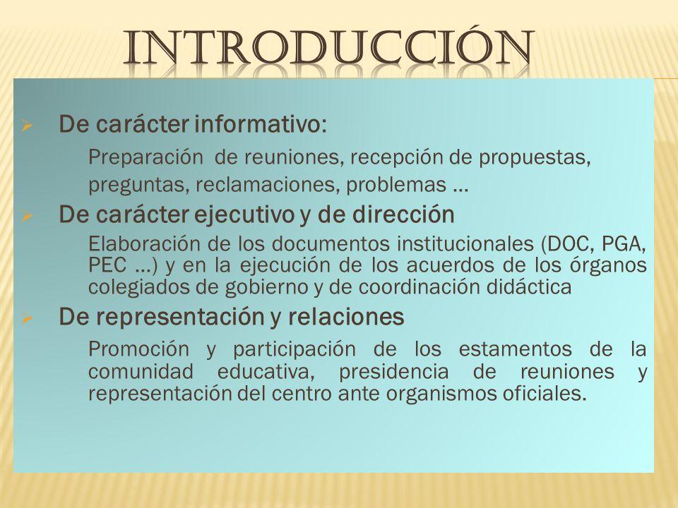 INTRODUCCIÓN De carácter informativo: