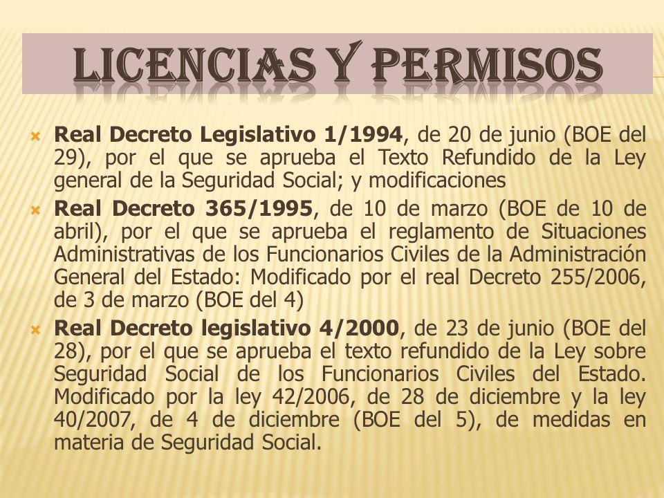 Licencias y permisos