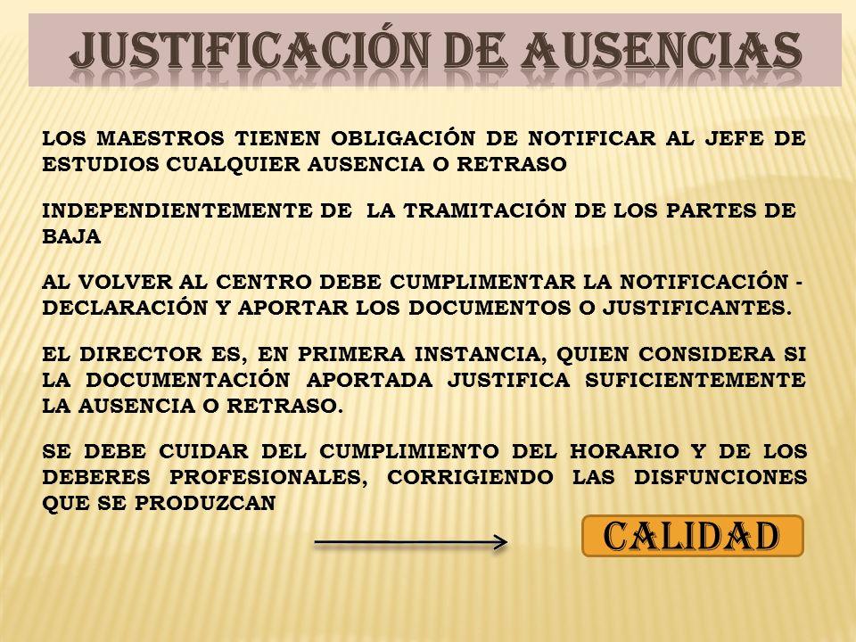 JUSTIFICACIÓN DE AUSENCIAS