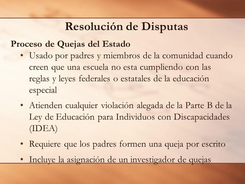 Resolución de Disputas