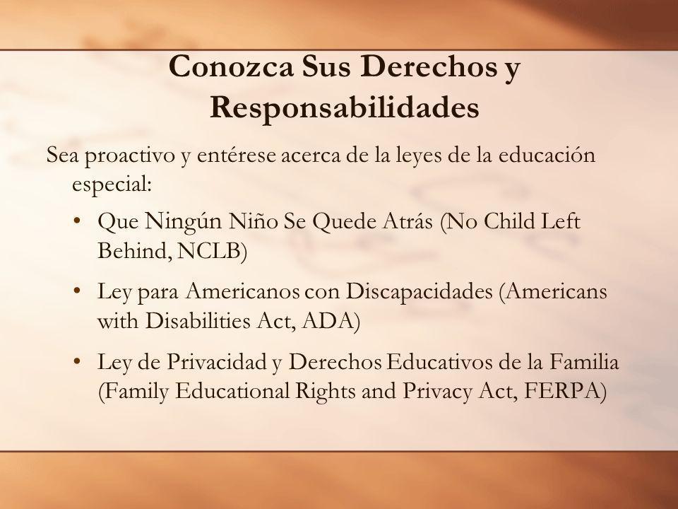 Conozca Sus Derechos y Responsabilidades