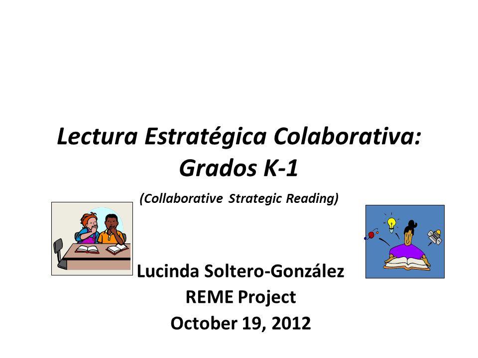 Lucinda Soltero-González REME Project October 19, 2012