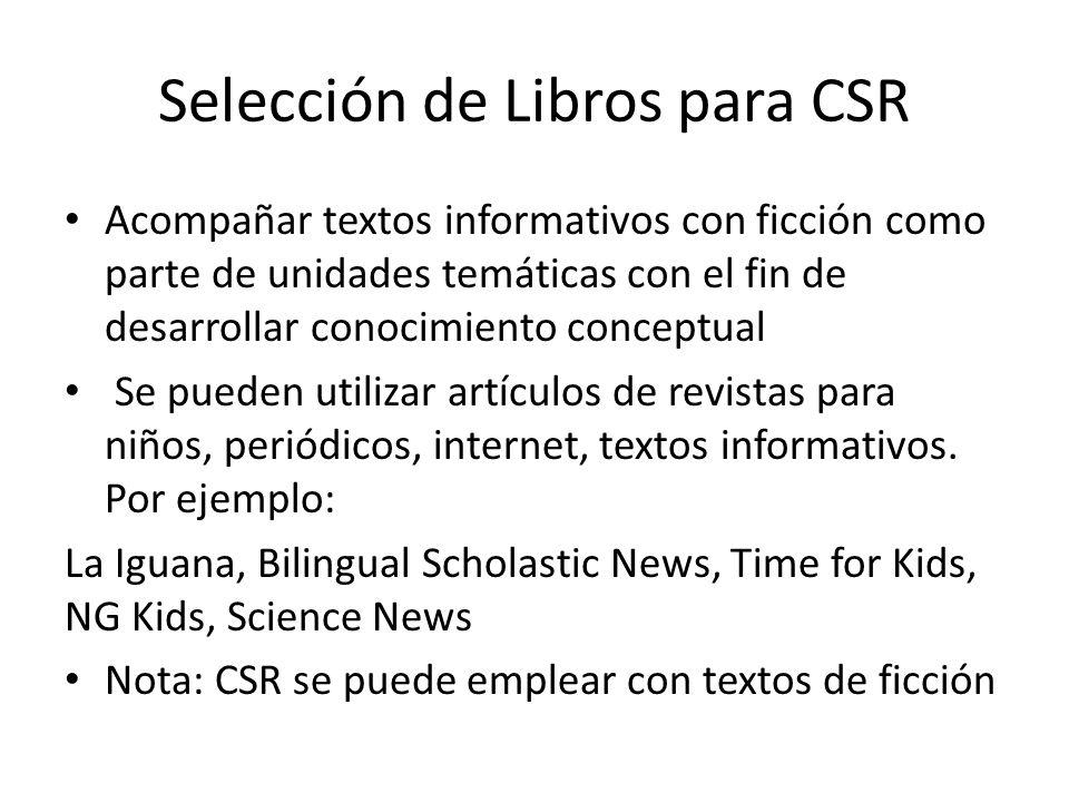 Selección de Libros para CSR