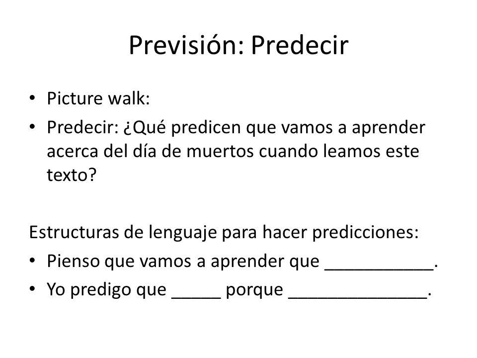Previsión: Predecir Picture walk: