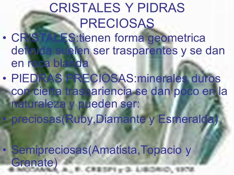 CRISTALES Y PIDRAS PRECIOSAS