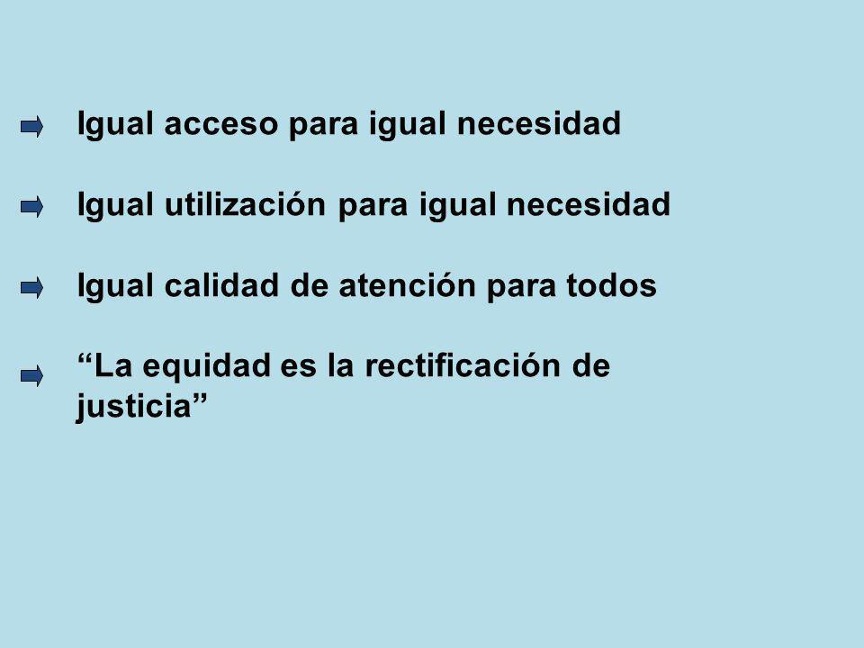 Igual acceso para igual necesidad