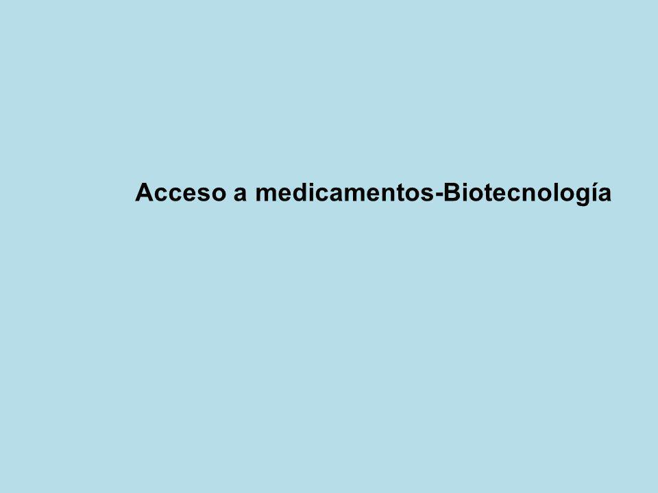 Acceso a medicamentos-Biotecnología