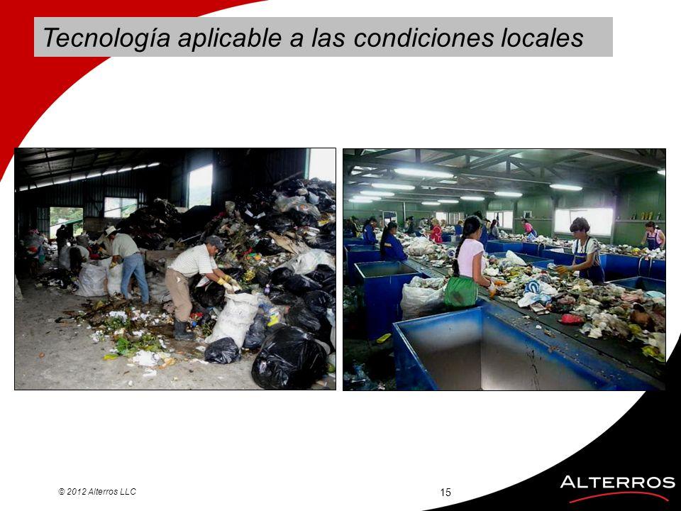 Tecnología aplicable a las condiciones locales