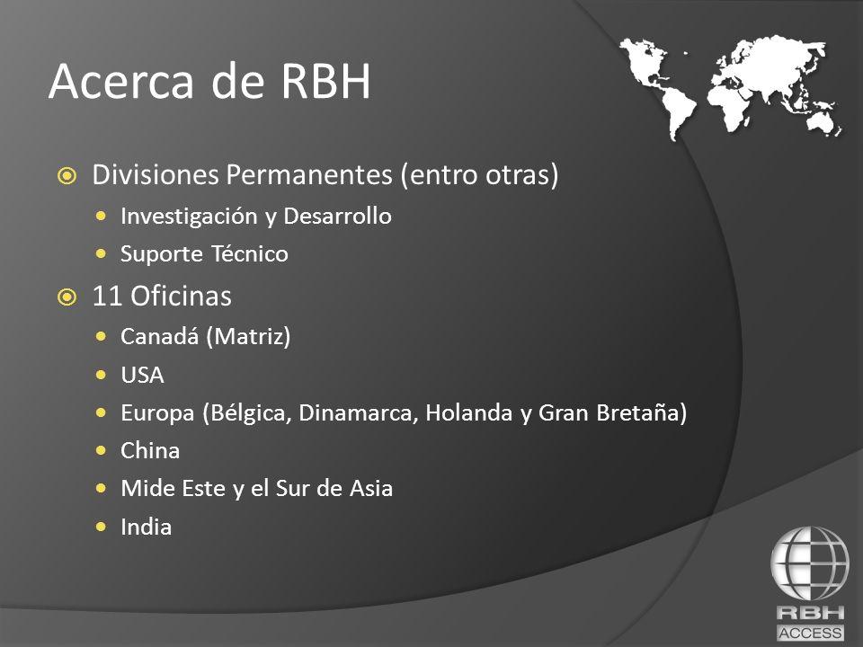 Acerca de RBH Divisiones Permanentes (entro otras) 11 Oficinas