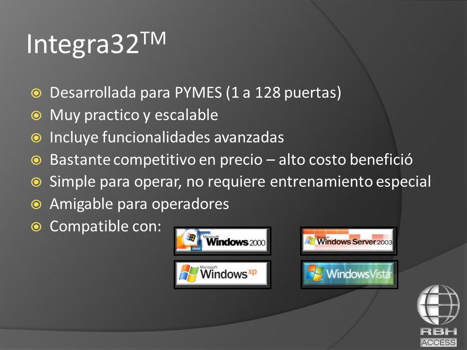 Integra32TM Desarrollada para PYMES (1 a 128 puertas)