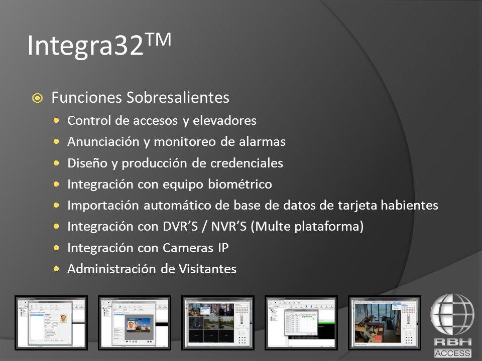 Integra32TM Funciones Sobresalientes Control de accesos y elevadores