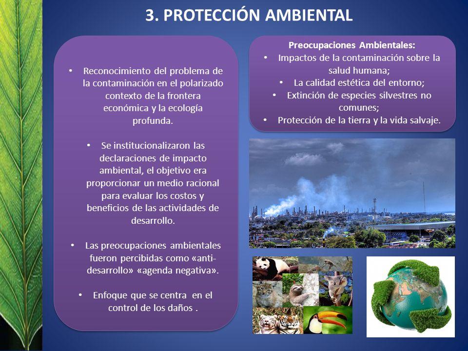 Preocupaciones Ambientales: