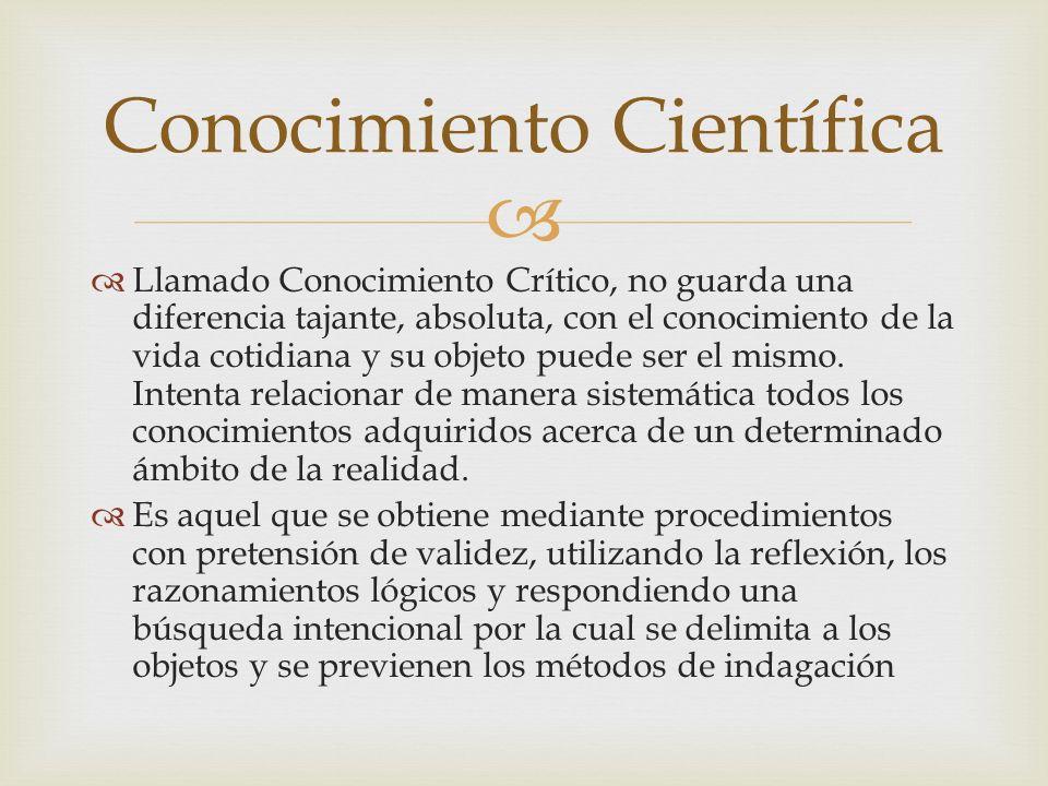 Conocimiento Científica