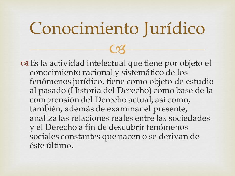 Conocimiento Jurídico