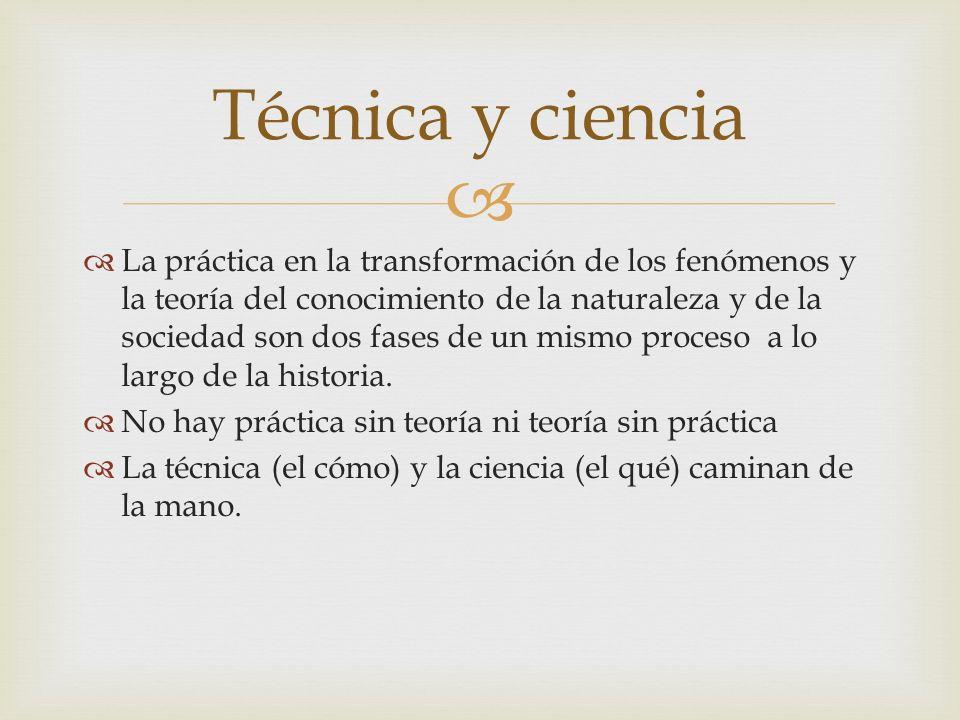 Técnica y ciencia