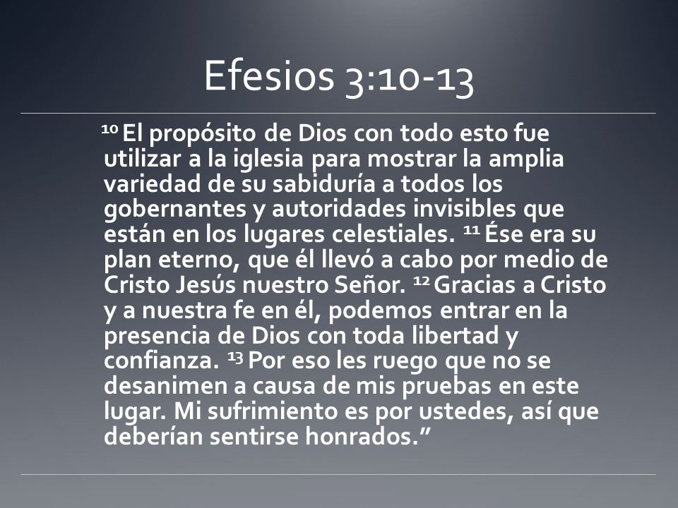 Efesios 3:10-13