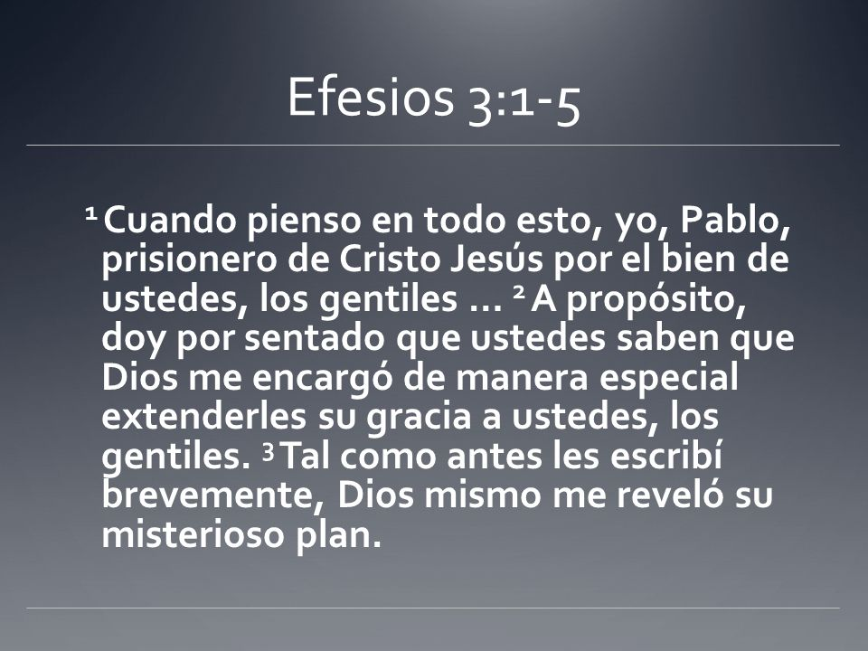 Efesios 3:1-5