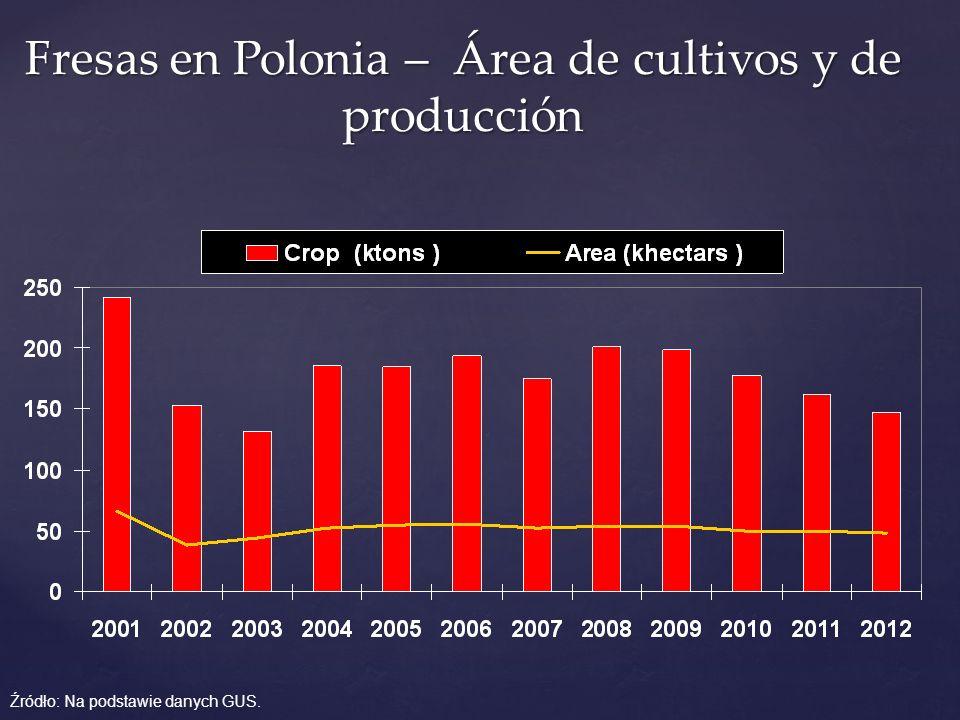 Fresas en Polonia – Área de cultivos y de producción