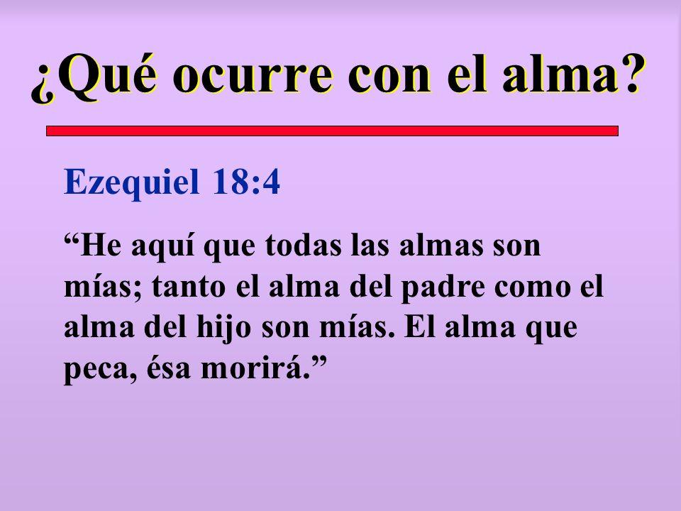 ¿Qué ocurre con el alma Ezequiel 18:4