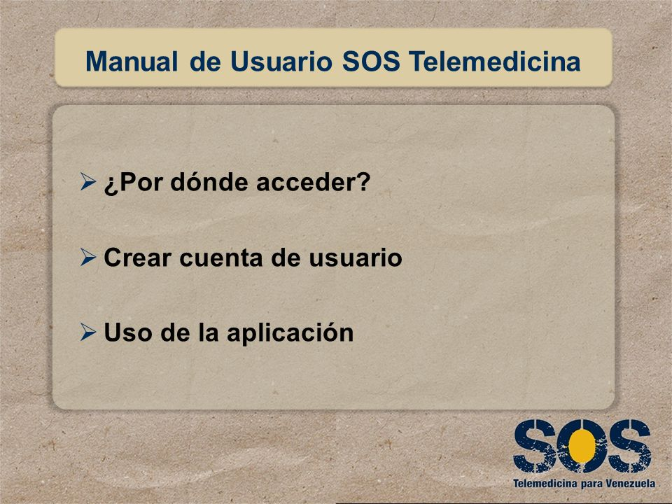 Manual de Usuario SOS Telemedicina
