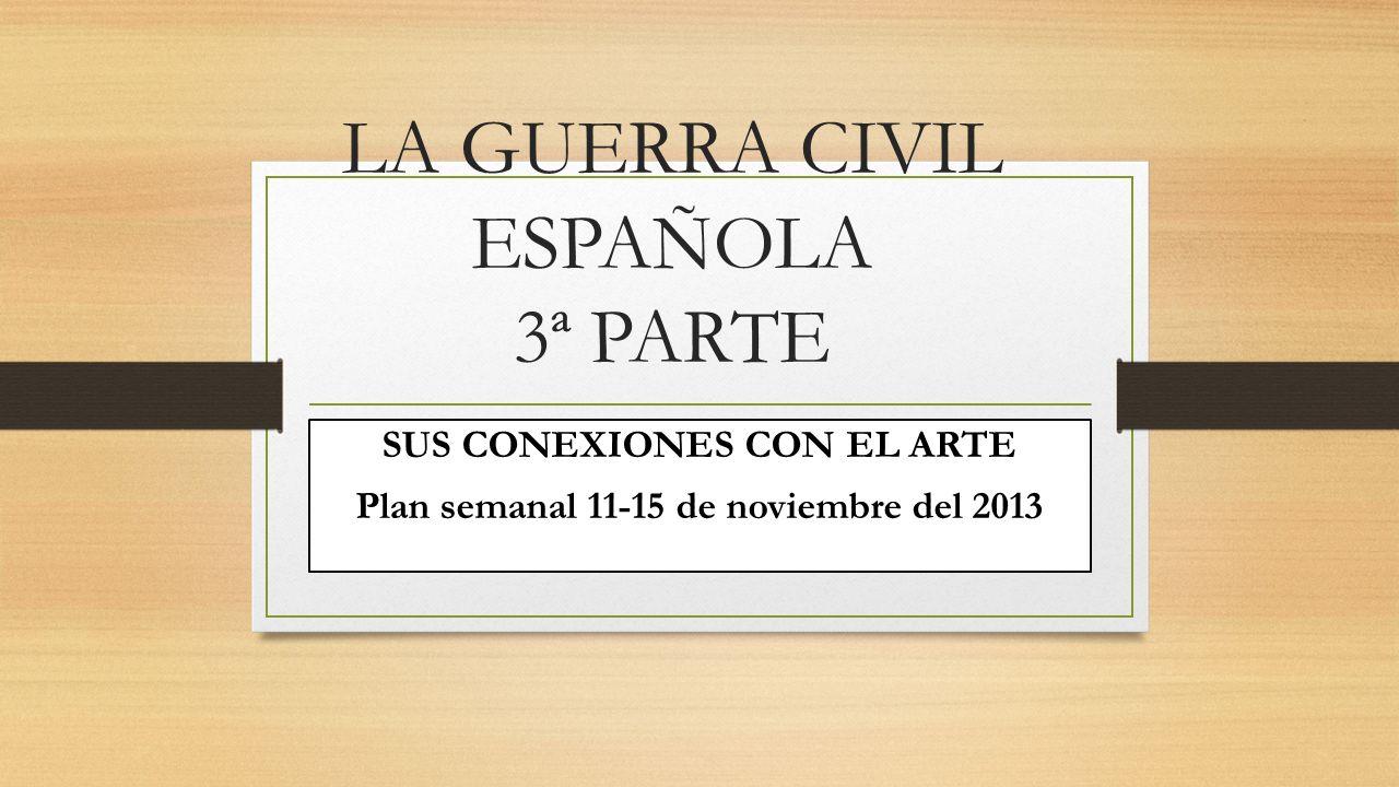 LA GUERRA CIVIL ESPAÑOLA 3ª PARTE